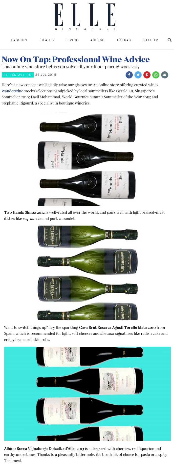 now on tap: professional wine advice